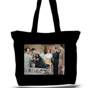 3 Stooges Pet Doctor Grocery Tote Bag XXXL